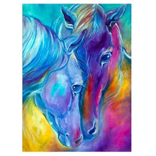 Load image into Gallery viewer, Modern Art Colorful Horse Close Up Full Drill - 5D Diamond Painting Kits VM1048 - NEEDLEWORK KITS