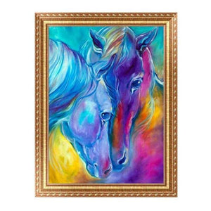 Modern Art Colorful Horse Close Up Full Drill - 5D Diamond Painting Kits VM1048 - NEEDLEWORK KITS