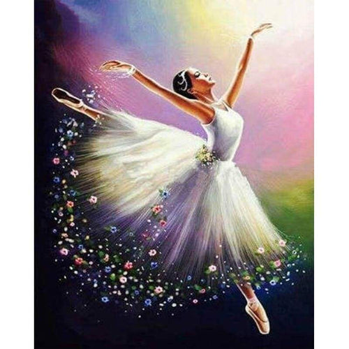 Modern Art Dancer Girl Full Drill - 5D Diy  Diamond Painting Kits NA0945 - NEEDLEWORK KITS