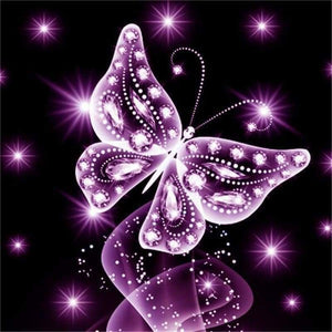 Modern Art Dreamy Full Drill - 5D DIY Diamond Painting Butterfly Kits Best Gift VM90205 - NEEDLEWORK KITS