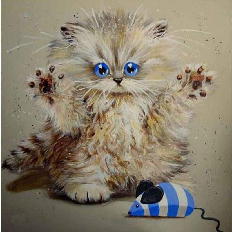 Modern Art Funny Cats Full Drill - 5D DIY Diamond Painting Kits VM3744 - NEEDLEWORK KITS