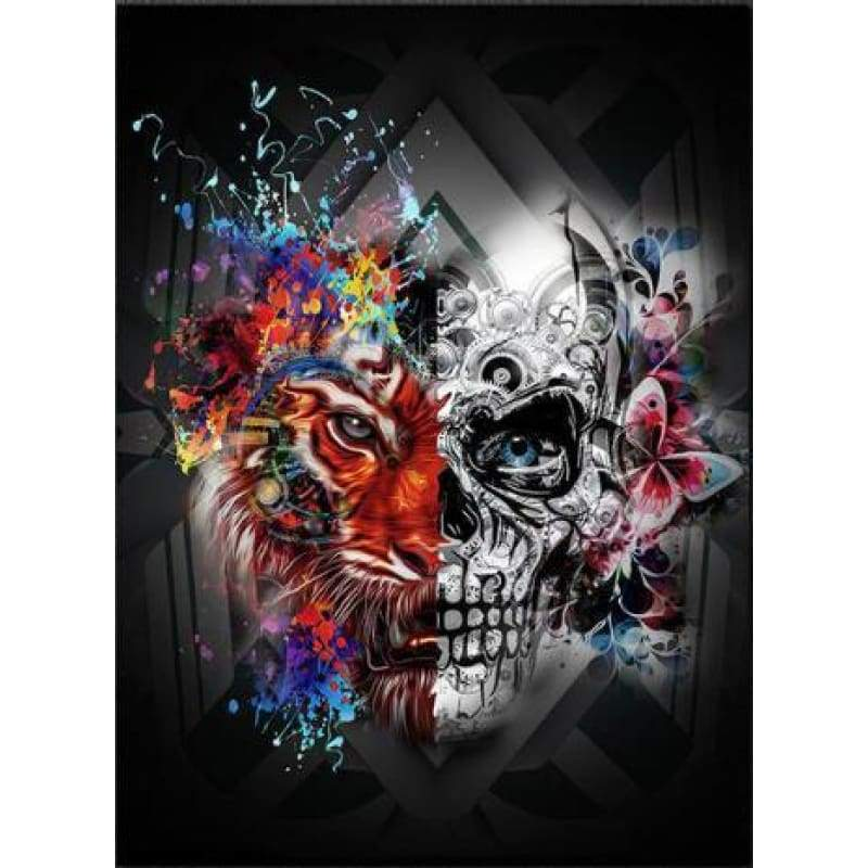 2019 Modern Art Halloween Skeleton Skulls 5d Diy Rhinestone Stitch Kits VM4088 - 3