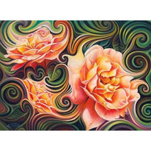 Load image into Gallery viewer, Modern Art Pink Abstract Flower Pattern Full Drill - 5D Diy Diamond Painting Kits VM66865 - NEEDLEWORK KITS