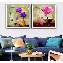 Load image into Gallery viewer, 2019 Modern Art Popular Violet Flower 5d Diy Diamond Painting Kits VM41204