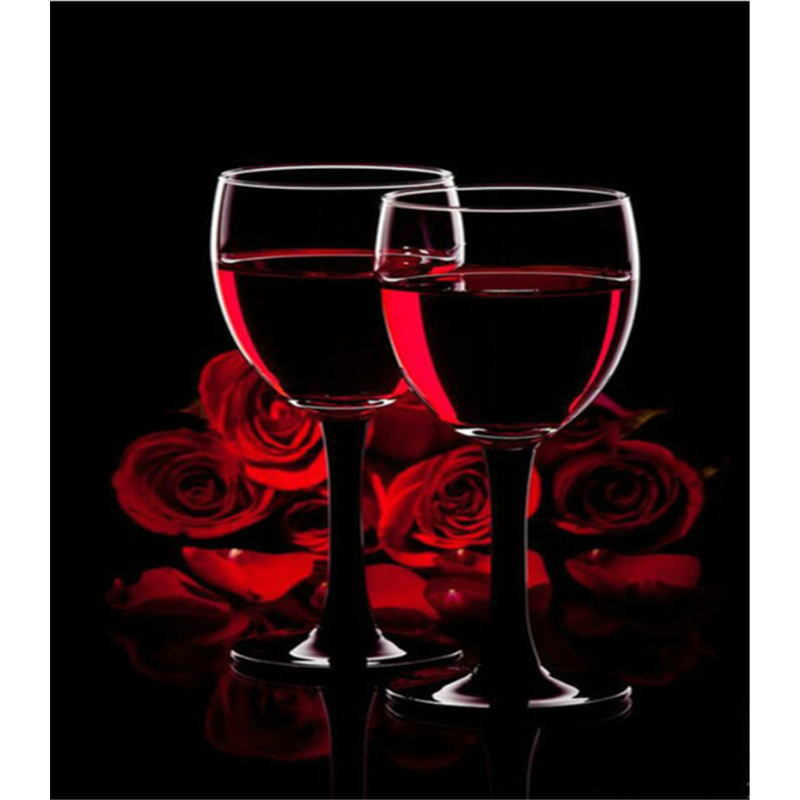 Modern Art Red Roses And Wine Full Drill - 5D Diy Diamond Painting Kits VM87211 - NEEDLEWORK KITS