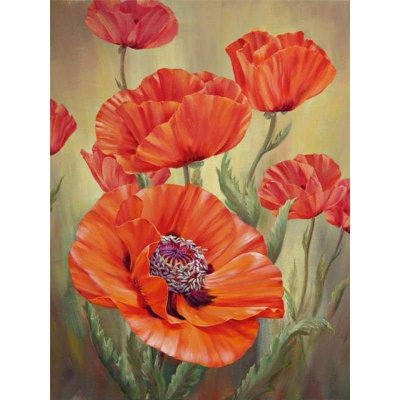 Modern Art Wall Decoration Full Drill - 5D Diy Diamond Painting Kits Flowers VM4023 - NEEDLEWORK KITS