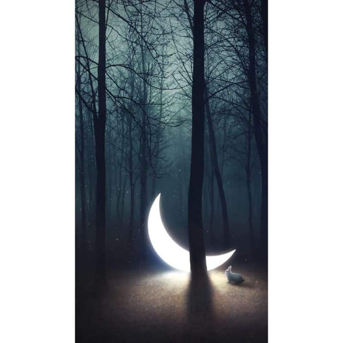 2019 Moon Forest Embroidery Cross Stitch 5D DIY Diamond Painting Kits UK - Z5