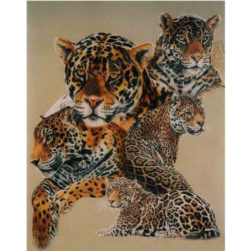 2019 New Animal Leopard Picture Wall Decor 5d Diy Diamond Painting Kits VM9521 - 3