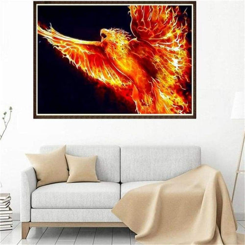 2019 New Arrival Dream Series Fire Eagle Diamond Painting Kits Af9741 - 3