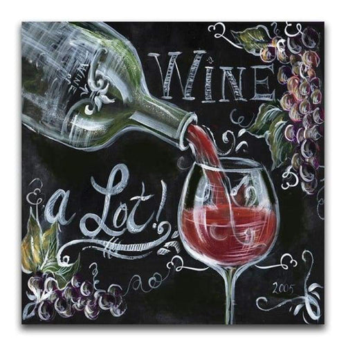 2019 New Arrival Square Drill Blackboard Wine Glass 5d Diy Diamond Painting Kits VM9616
