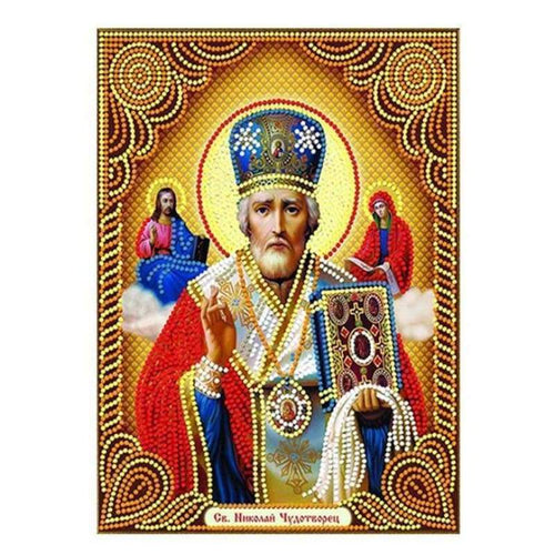 New Catholicism Portrait Full Drill - 5D Diy Embroidery Diamond Painting Kits QB8087 - NEEDLEWORK KITS