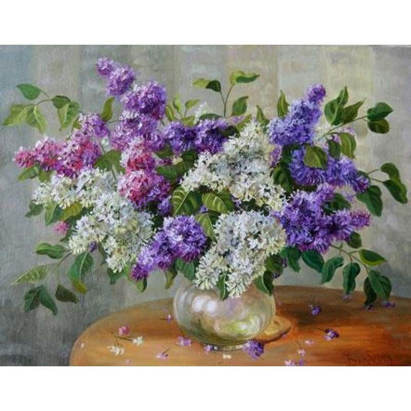 New Colorful Flower Diy Diamond Painting Set VM7765 - NEEDLEWORK KITS