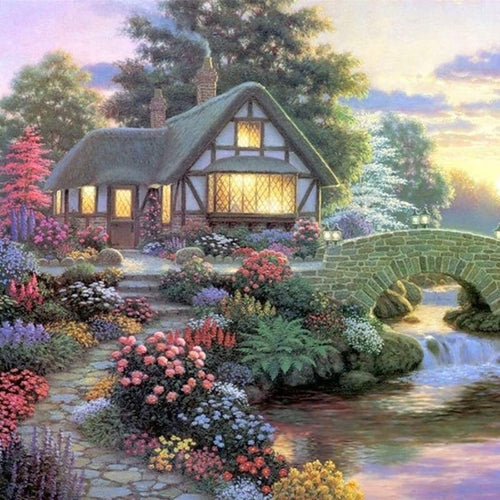 New Dream Cottage Patterns Full Drill - 5D Diy Diamond Painting Kits VM8377 - NEEDLEWORK KITS