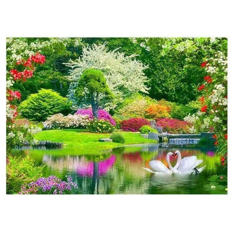 New Dream Lakeside Scenery Full Drill - 5D Diy Diamond Painting Landcape VM3306 - NEEDLEWORK KITS