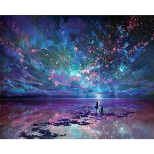 New Dream Night Starry Sky Landscape Full Drill - 5D Diamond Painting VICM1034 - NEEDLEWORK KITS