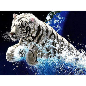 New Dream Photo Animal Tiger Full Drill - 5D Diy Diamond Painting Kits VM9075 - NEEDLEWORK KITS