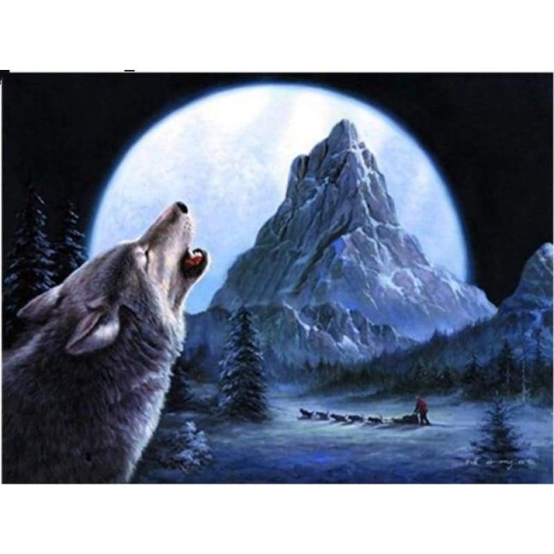 New Dream Stitch Kit Fast Delivery Full Drill - 5D Diy Diamond Painting Snow Wolf VM8618 - NEEDLEWORK KITS