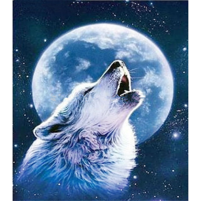 New Dream Stitch Kit Night Sky Full Drill - 5D Diy  Diamond Painting Wolf VM8626 - NEEDLEWORK KITS