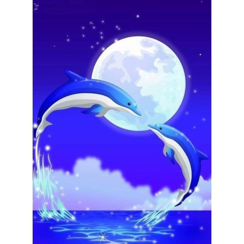New Dream Wall Decor Animals Dolphin Full Drill - 5D Diy Diamond Painting Kits VM8576 - NEEDLEWORK KITS