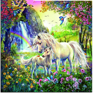 2019 New Fantasy Kids Gift Unicorn 5d Diy Diamond Painting Kits VM7612