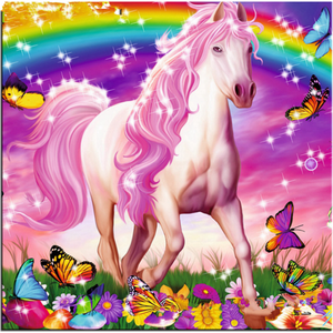 New Fantasy Wall Decor Unicorn Full Drill - 5D Diy Diamond Painting Kits VM7609 - NEEDLEWORK KITS