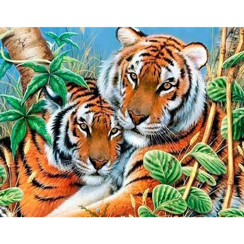 2019 New Hot Sale Animal Portraits Close Up 5d Diy Diamond Painting Tiger VM2000 - 2
