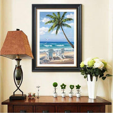Load image into Gallery viewer, New Hot Sale Beach Seaside Palm Tree Full Drill - 5D Diy Diamond Painting Kits VM8023 - NEEDLEWORK KITS