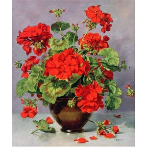 New Hot Sale Beautiful Red Flower Full Drill - 5D Diy Diamond Painting & Decorating VM1979 - NEEDLEWORK KITS