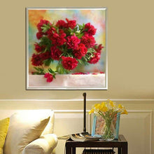 Load image into Gallery viewer, New Hot Sale Beautiful Red Flower Full Drill - 5D Diy Diamond Painting & Decorating VM1981 - NEEDLEWORK KITS