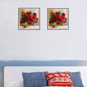 New Hot Sale Beautiful Red Flower Full Drill - 5D Diy Diamond Painting & Decorating VM1981 - NEEDLEWORK KITS
