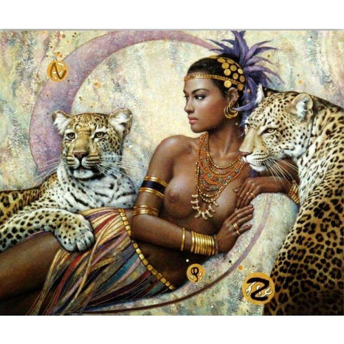 2019 New Hot Sale Beauty And Animal Leopard 5d Diy Diamond Painting Kits VM8070 - 3