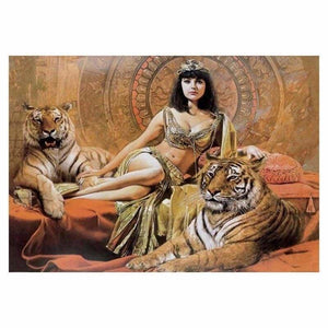 New Hot Sale Beauty And Animal Tiger Full Drill - 5D Diy Diamond Painting Kits VM9976 - NEEDLEWORK KITS