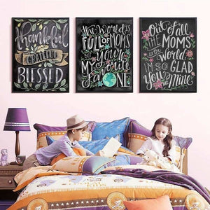 New Hot Sale Blackboard Home Decor Full Drill - 5D DIY Diamond Painting Kits VM8173