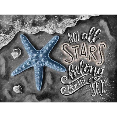 2019 New Hot Sale Blackboard Starfish Decor 5d DIY Diamond Painting Kits VM8176 - 3