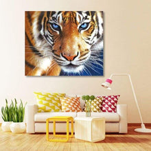 Load image into Gallery viewer, 2019 New Hot Sale Blue Eyed Tiger Diy 5D Embroidery Diamond VM1142 - NEEDLEWORK KITS