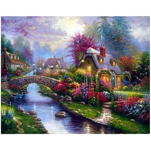 New Hot Sale Cartoon Dream Cottage Full Drill - 5D Diy Diamond Painting Kits VM8382 - NEEDLEWORK KITS
