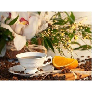 2019 New Hot Sale Coffee Cup And Flower Picture Diy 5d Diy Crystal Painting Kits VM03019 - 3