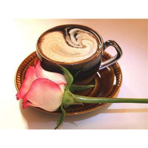 New Hot Sale Coffee Cup And Flowers Diy Full Drill - 5D Bling Bling Art Diamond Painting Kits VM3008 - NEEDLEWORK KITS
