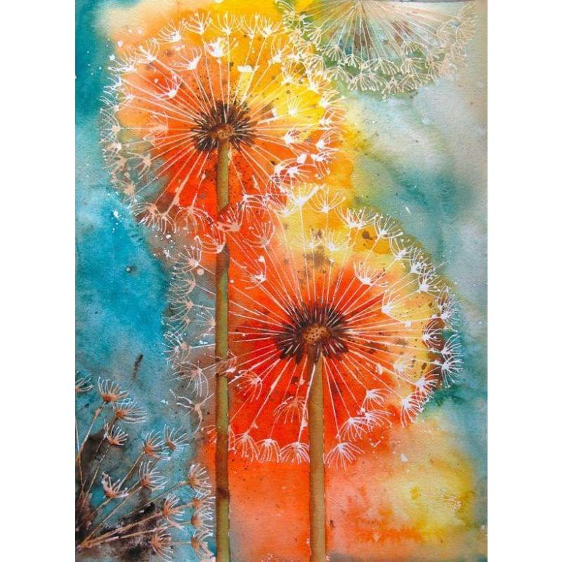 New Hot Sale Colored Dandelion Diy Full Drill - 5D Diamond Painting Cross Stitch Kits VM7724 - NEEDLEWORK KITS