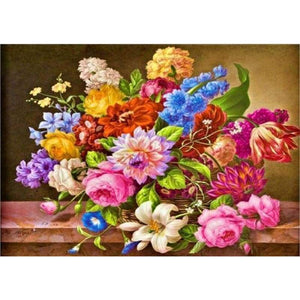 New Hot Sale Colorful Full Drill - 5D Diy Diamond Painting Flower Kits VM3602 - NEEDLEWORK KITS