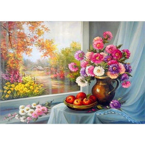 2019 New Hot Sale Colorful 5d Diy Diamond Pictures Flower Kits VM3624 - NEEDLEWORK KITS