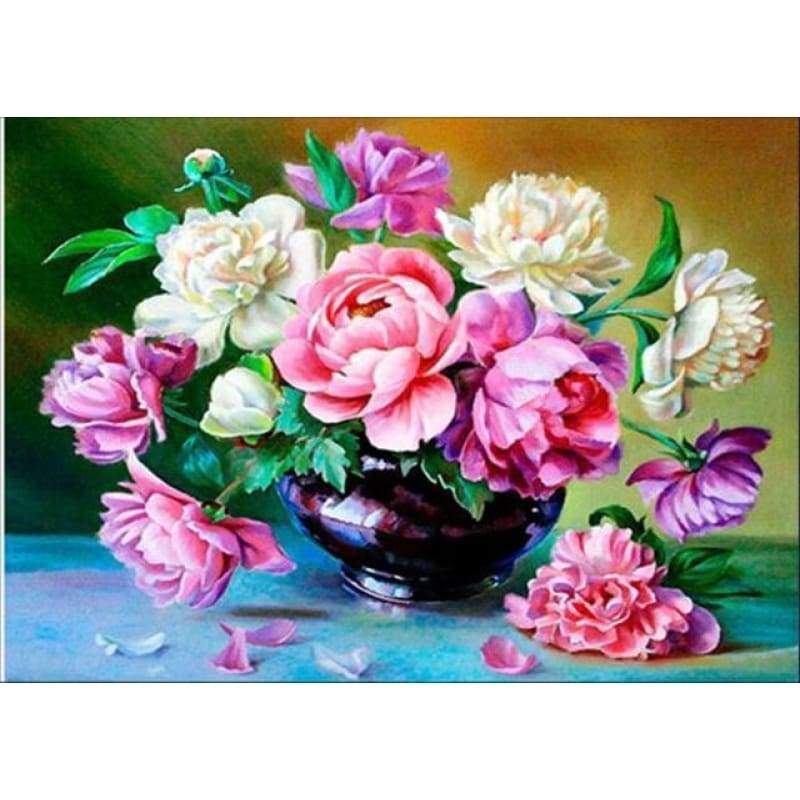 2019 New Hot Sale Colorful 5d Diy Diamond Pictures  Flower Kits VM3627 - NEEDLEWORK KITS