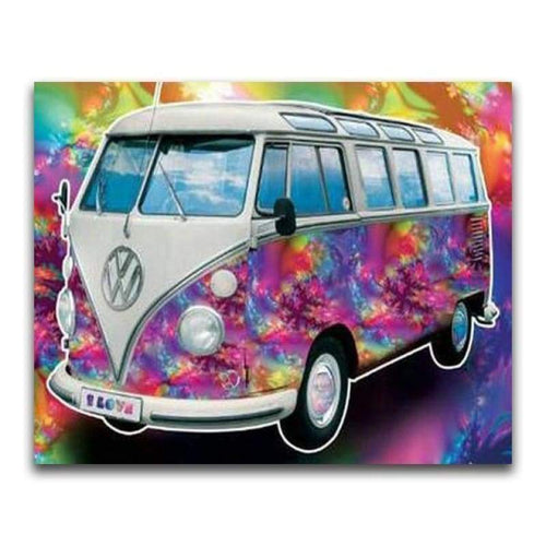 2019 New Hot Sale Colorful Bus 5d Diy Kits Diamond Painting Stitch VM2044 - 3