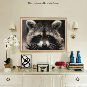 New Hot Sale Cross Stitch Cute Raccoon DIY Full Drill - 5D Diamond Painting Kits VM7639 - NEEDLEWORK KITS
