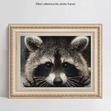 Load image into Gallery viewer, New Hot Sale Cross Stitch Cute Raccoon DIY Full Drill - 5D Diamond Painting Kits VM7639 - NEEDLEWORK KITS