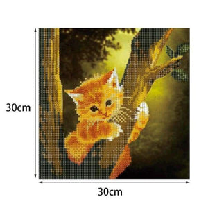 2019 New Hot Sale Cute Cat Picture 5d Diy Diamond Painting Kits VM7262