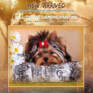 New Hot Sale Cute Dog Picture Full Drill - 5D Diamond Painting Cross Stitch VM8594 - NEEDLEWORK KITS