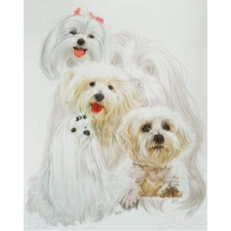 New Hot Sale Decorating Dog Picture Full Drill - 5D Diy Diamond Painting Kits VM09529 - NEEDLEWORK KITS