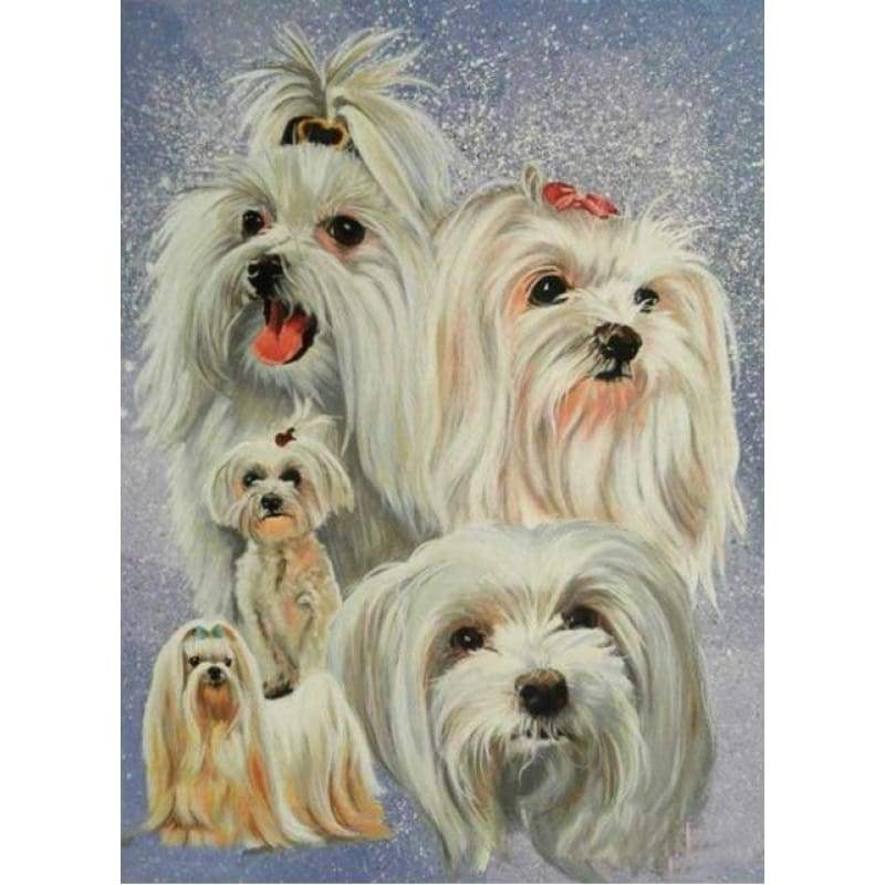 New Hot Sale Decorating Dog Picture Full Drill - 5D Diy Diamond Painting Kits VM9533 - NEEDLEWORK KITS