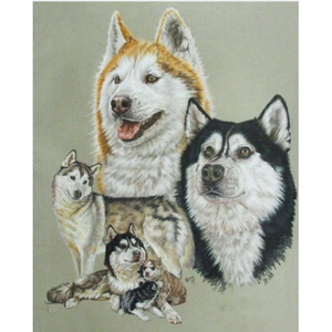 New Hot Sale Decorating Dog Picture Full Drill - 5D Diy Diamond Painting Kits VM09536 - NEEDLEWORK KITS